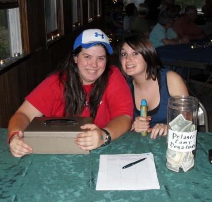 Mindy Caron (left) with Kaitlyn Farrow at the Delanco Coffeehouse in May